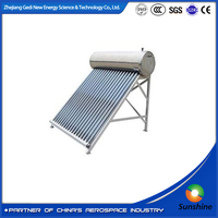 Evacuated tube collector solar hot water heater system