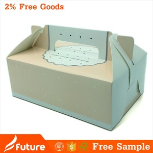 Mini cake box packaging paper box with handle in so cute baby designs