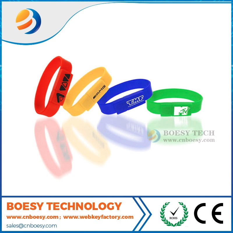 Cheap silicon usb wristband usb flash memory stick for promotion