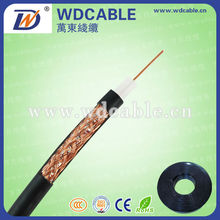 OEM high quality rg11/rg6u coaxial cable 50 ohm/70 ohm with solid copper
