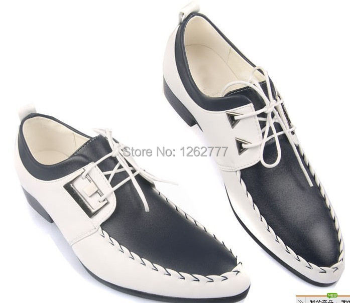 Get Quotations · NEW HOT style Men s wedding groom shoes Mens Shiny leather  shoes Unique men casual shoes Eur 5814e2a8d0f1