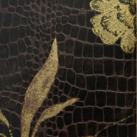 home new crozzling gilding leather design 3D deep embossing heavy thick vinyl wallpaper