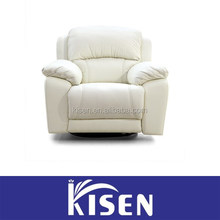 Recliner modern sectional single leather sofa