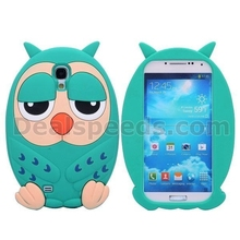 3D Animal Cute Stylish Cartoon Owl Soft Silicon Case for Samsung Galaxy S4 i9500 i9505 i9508