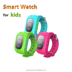 2015 hot sale emergency children Kids waterproof GPS tracker security smart wrist watch