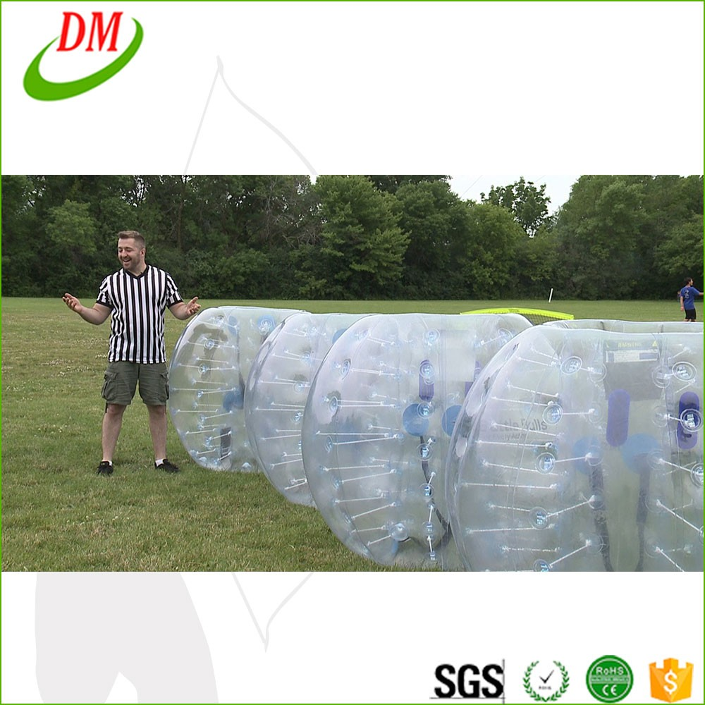 Colorful sports happy island toys bubble soccer,giant soccer bubble ball, TPU bumper balls