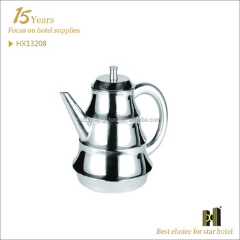Bamboo Style Good Quality stainless steel teapot