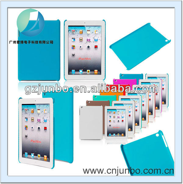 2016 Fashion Colorful Waterproof Plastic material Clear Back Cover case For Ipad Mini