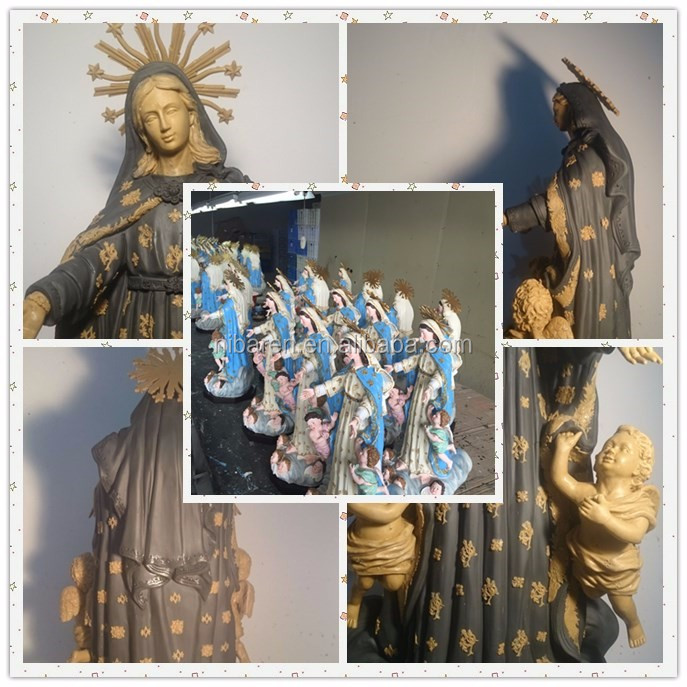 resin madonna statue home decoration