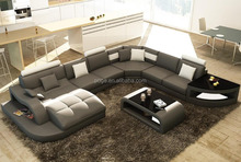Fashionable furniture livingroom <strong>modern</strong> sectional leather sofa A084