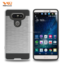 For LG V20 metallic phone accessories 2016 covers 2 in 1 hair line mobile phone case