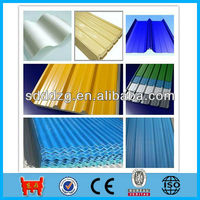colored zinc corrugated metal roofing sheet prices