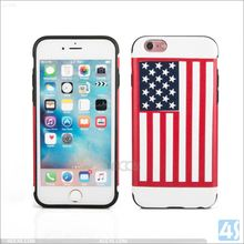 American Flag printed cover cases for iPhone 6S ,TPU PU phone Case for Apple iPhone 6