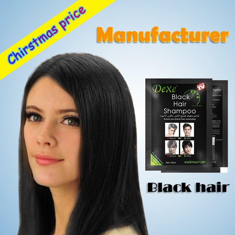 A wash black shampoo wholesale black hair products black hair dye shampoo present manufacturer