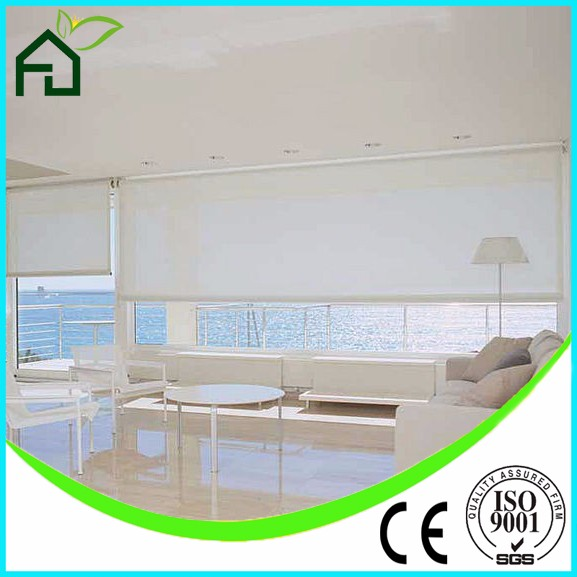 High Quality Roller Blinds/window curtain fabric/office remote control shades
