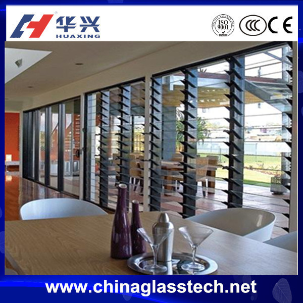 CCC certificate elegant better ventilation exterior glass louver door