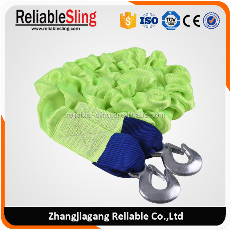 High Strength Elastic Rope Tow Lashing with 2 Forged Hooks