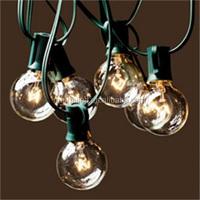 25 Sockets Commercial Outdoor String Light G40 Globe Clear Bulbs LED Bulb String Lights color LED globe light