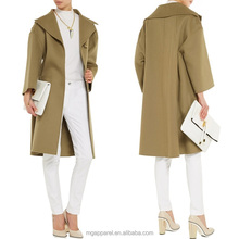china newest hot selling 100% wool coats button front winter women wool coat