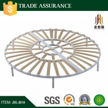 metal slat king size round bed