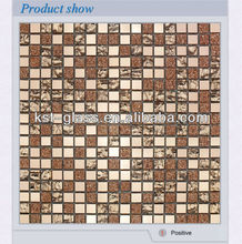 tiny small size 10x10 glass mirror mosaic tile