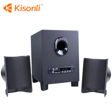 Multimedia speaker wireless USB Stereo Computer Speaker 2.1 wireless Home Theater with FM radio and TF card