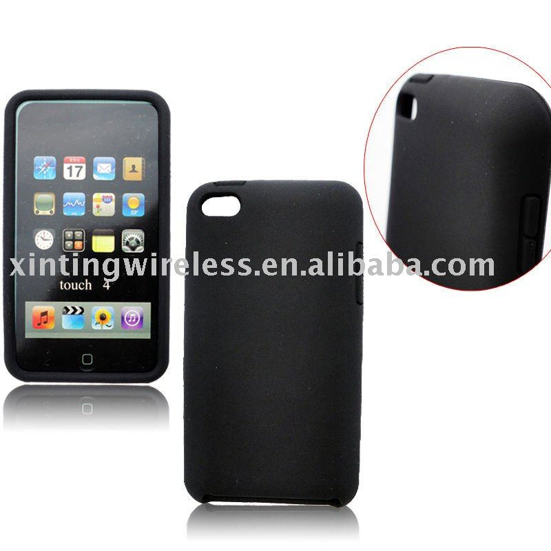 17G Cell Phone Soft Silicone Rubber Case for iPod Touch 4(VERY HOT)