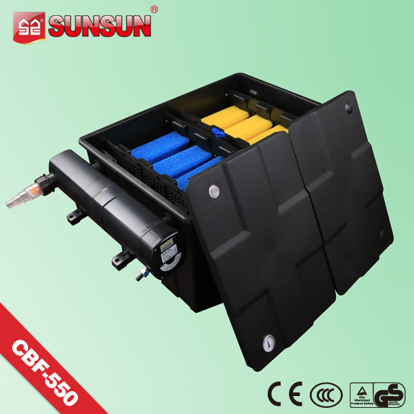 submersible pump Black Filter Box Fish Pond with UV lamp