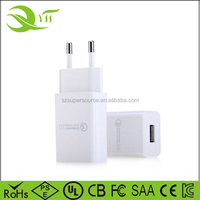 2016 Best Seller qc2.0 micro usb wall travel charger for iphone 6 samsung galaxy s7 mobile phone