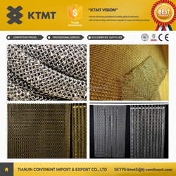 stainless steel metal decorative wire ring curtain mesh/metal chain door curtain made in china supplier