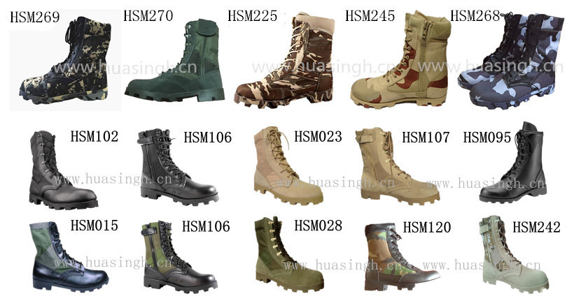 Panama rubber sole MIL SPEC liberty army force black jungle boots for combat