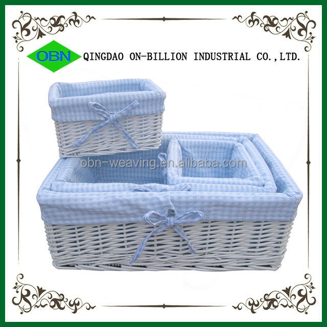 Woven Basket Procedure : Wholesale supplier cute white wicker baskets for hampers