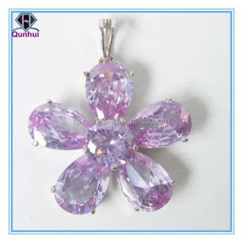 fashion lavender pear shaped gemstone necklaces