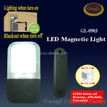 indoor idea led magnet control light for wardrobe battery operated night lamp