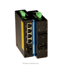 5-Port network hub price PoE Switch with 4 High Power PoE Ports and 1 SC Fiber Port