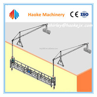 facade window cleaning machine for high rise building electric swing stage