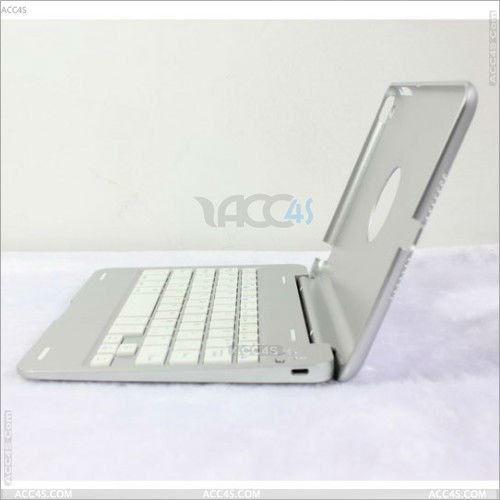 simple white Aluminum wireless Bluetooth Keyboard with case for ipad mini