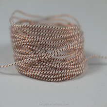 1.5mm garment round string braided bakers twine cotton bag hang tag string