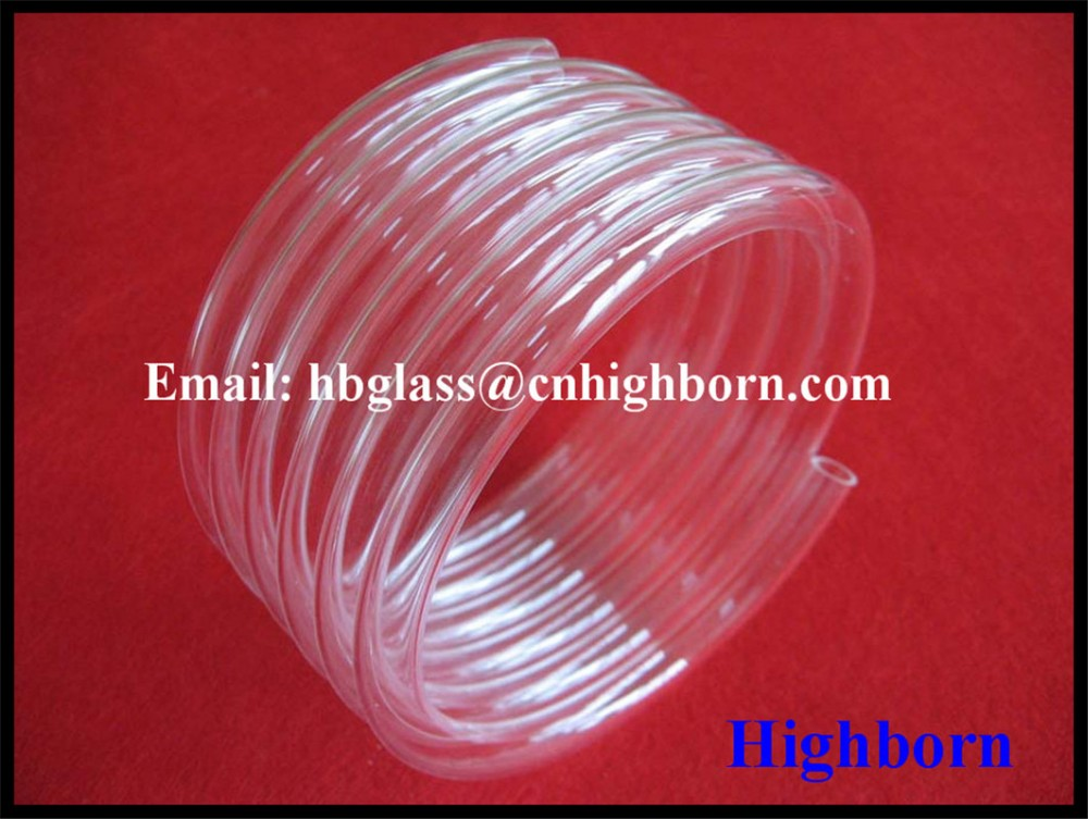 hot sell transparent spiring quartz tube supplier
