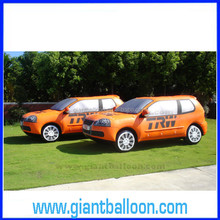 Giant PVC Orange Inflatable Advertising Car