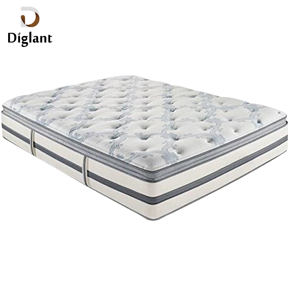 DM034 Diglant Gel Memory Latest Double Fabric Foldable King Size Bed Pocket bedroom furniture California king mattress - Jozy Mattress | Jozy.net