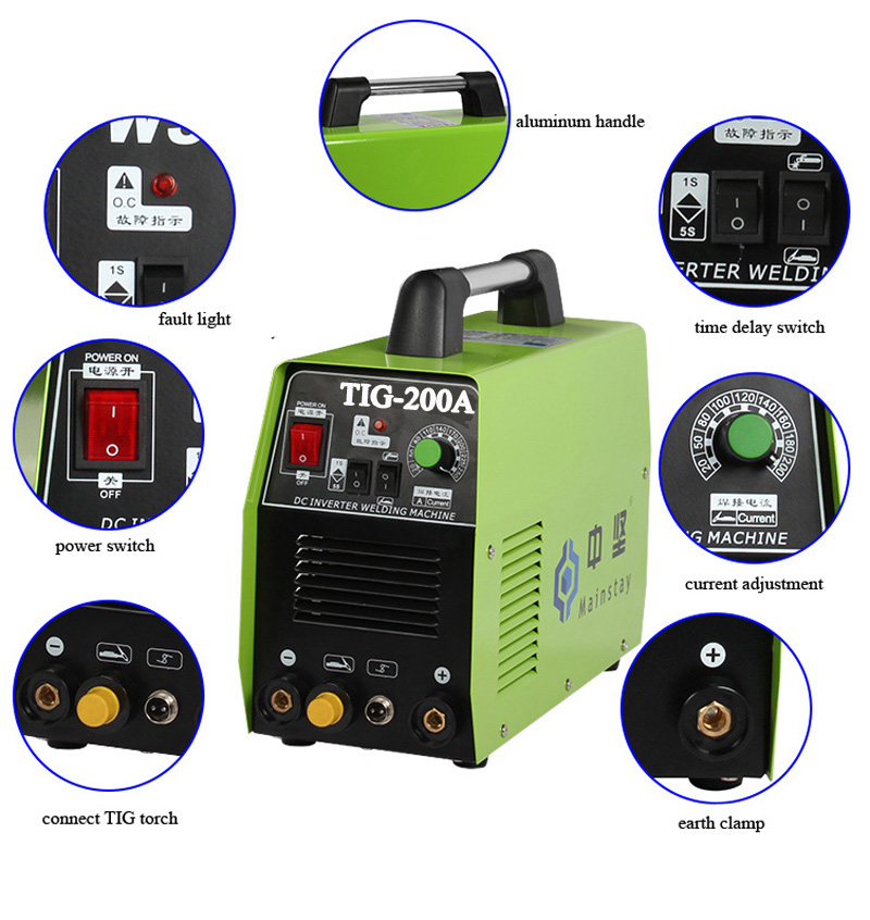 Trade Assurance Guangdong Huizhou inverter tig welding machine & tig welding machine price TIG200A