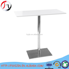 High quality glass top rectangular metal frame table for event