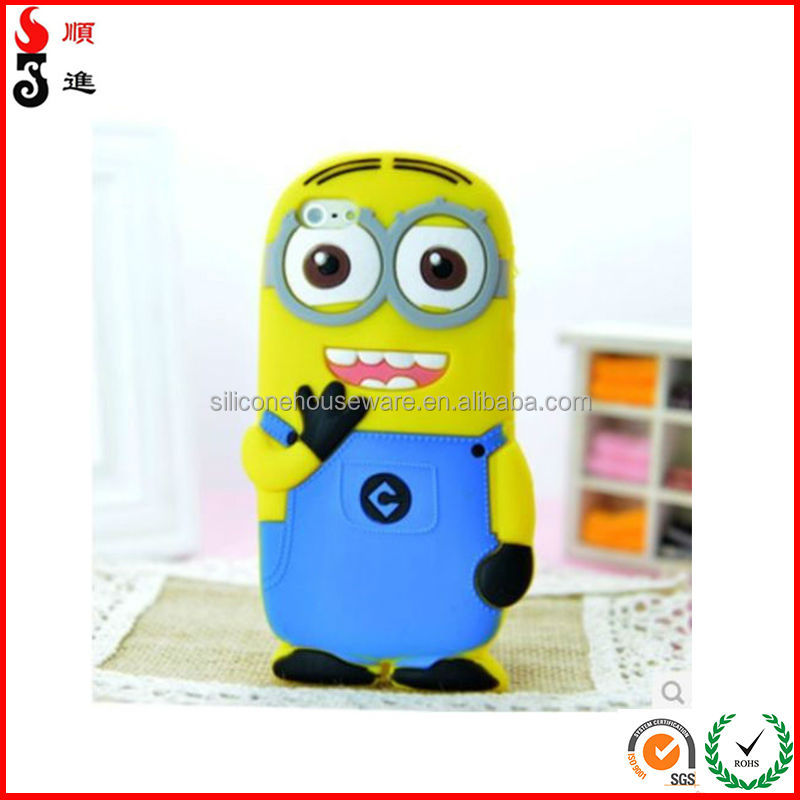 Hot Sale New Cartoon Minions Silicon Material Cover Case For iPhone 5 5S 5C