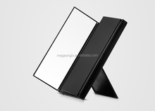 hot lady foldable 3 side led make up mirror desk top