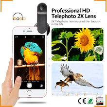 Beautiful and popular 60MM professional telephoto zoom lens 2x with case for iphone