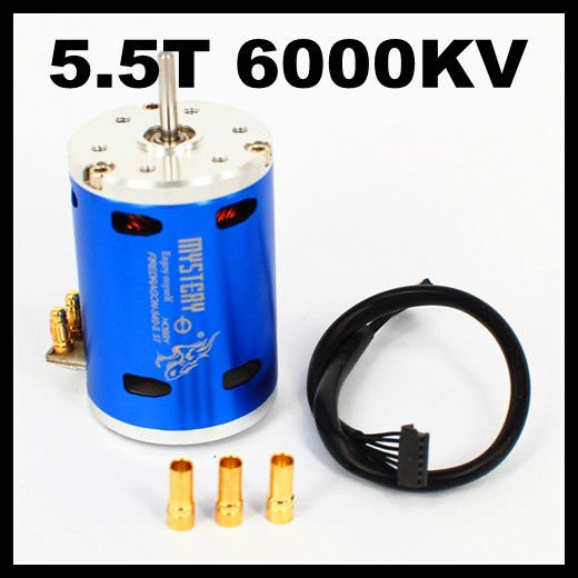 Fire Dragon 3 Chase 2 Poles 5.5T 6000KV HL540-3650 3G2P Sensored Brushless Motor For 1/10 1/12 RC Car