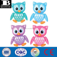 pvc inflatable owl plastic customized animals toys vinyl inflatable birds small blow up toys
