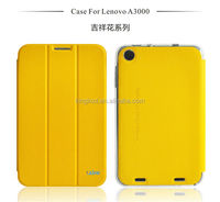 Most popular cute mobile phone flip leather case for lenovo a3000