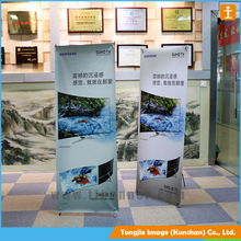 Manufacture aluminum uv protection material x banner stand